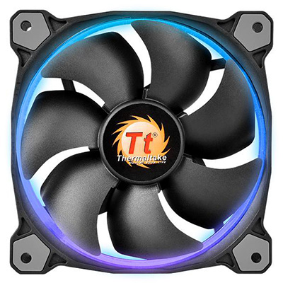 Riing 12 LED RGB 256 Colors High Static Pressure LED RadiatorFan